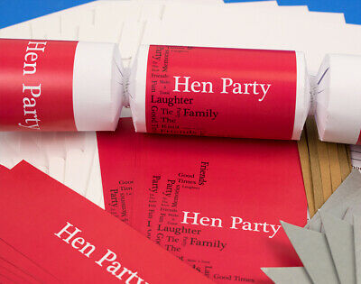 8 Hen Party Make & Fill Your Own Party Crackers Kit
