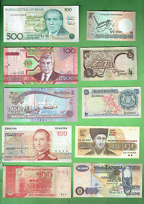 #d343.  10.   Ten  World  Banknotes