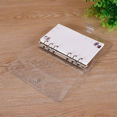 Clear A5/A6/A7 Leaf  Ring Binder Notebook Loose Weekly Planner Diary Cover TU