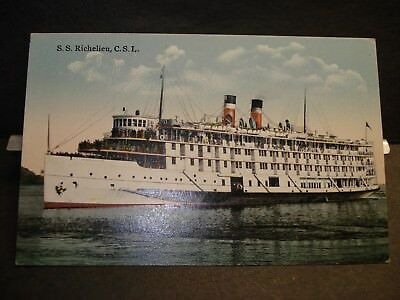 Ship SS RICHELIEU, CANADIAN STEAMSHIP LINES Naval Cover unused postcard CSL