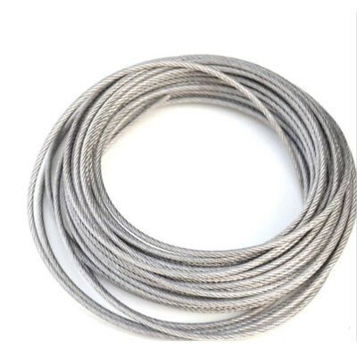 Stainless Steel Wire Rope Cable PVC Plastic Coated 0.38mm 0.4mm 0.5mm  0.6mm 0.8