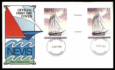 Nevis 1980 Water Transportation $3 Polynesia Ship Issues Cachet On Unsealed Fdc