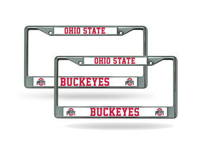 2 OHIO STATE Buckeyes License Plate Frame NEW Auto Truck FREE U.S.A. ...