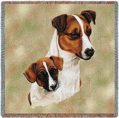 Lap Square Blanket - Jack Russell Terrier and Pup by Robert May 1208