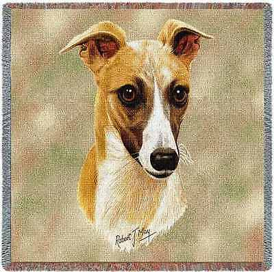 Lap Square Blanket - Whippet by Robert May 1174