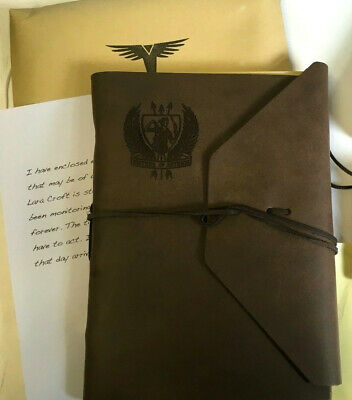 RISE OF THE TOMB RAIDER NOTEBOOK + NECKLACE + STICKER + LETTER + Envelope * NEW