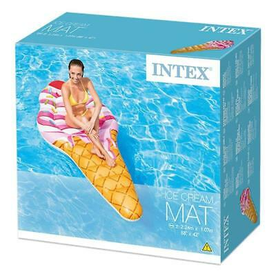 "Intex Ice Cream Mat Inflatable 88"" Giant Pool Lounger Float Lilo"