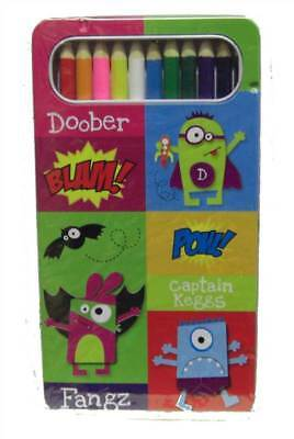 Beastiez Pencil Tin with 12 Colouring Pencils Pencil Case 12 colour pencil kids