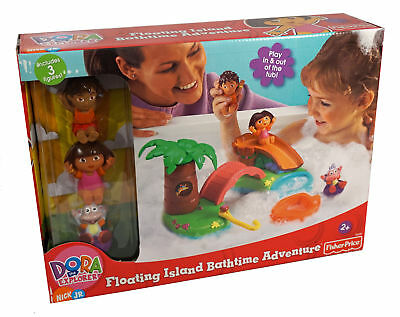 Dora the Explorer Floating Island Bath Time Adventure ~ Includes 3 Figures ~ NEW