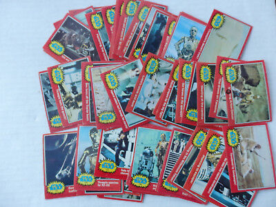 Lot of 53 Second Series Star Wars Cards 1977 Red Borders