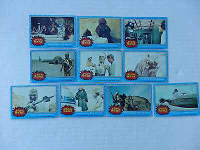 Lot of 10 First Series Star Wars Cards 1977 Blue Borders #15-22, 24, 25