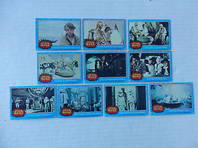 Lot of 10 First Series Star Wars Cards 1977 Blue Borders #38, 40, 42-46, 49-51