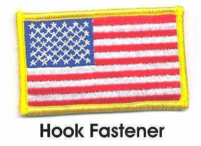 "2"" x 3"" United States US Color Flag Patch VELCRO® BRAND Hook Fastener Compatible"