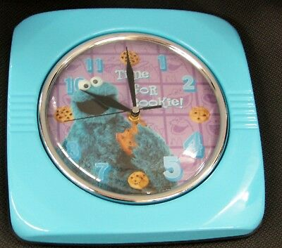 Sesame Street Cookie Monster , Dial Blue Metal Wall Clock 32089