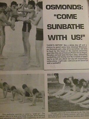 The Osmonds, Donny Osmond, Shirtless, Full Page Vintage Clipping, Brothers