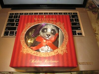 Waterford Panda Ornament Made In Poland #134241 New In Box Bin