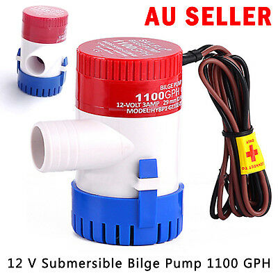 12V Submersible Bilge Water Pump 1100GPH Caravan Camping Marine Fishing Boat AU