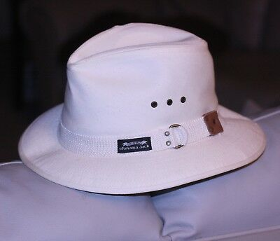 274fc6bff0d470 Panama Jack Men's HAT cream Cotton Canvas Safari Sun Large air holes sweat  band