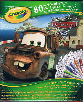 Crayola 04-5056 - Cars - 80 Mini Sheets for Paint NEW
