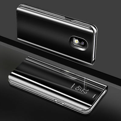 For Samsung Galaxy J3 J5 J7 Pro 2017 View Mirror Flip Stand Case Smart Cover