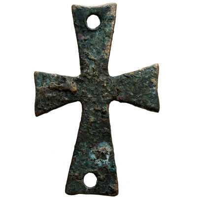 Superb Byzantine Bronze Christian Cross Ornament Circa 500-900 Ad