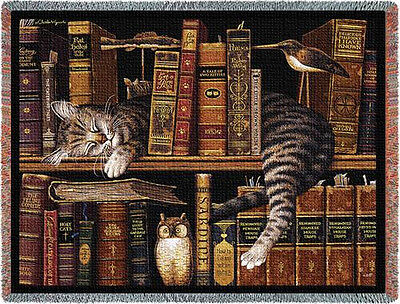 Throw Tapestry Afghan - Frederick the Literate 801