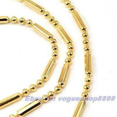 """18/""""1.5mm3g REAL PRETTY 18K YELLOW GOLD GP NECKLACE SOLID FILL GEP CHAIN 4209n"""