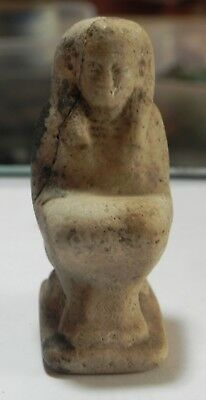 Zurqieh-As4535-  Ancient Egypt, Rare Stone Statue Of A Kneeling Figure. 600 -300