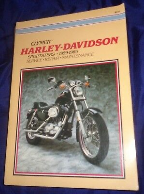 BS750 59-85 Harley Davidson Sportster Motorcycle Clymer Service Manual M419