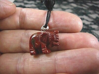 (an-ele-6) baby red Jasper ELEPHANT gemstone carving Pendant NECKLACE elephants