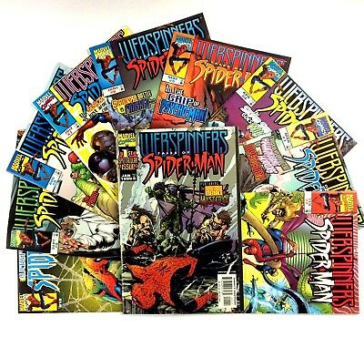 Webspinners Tales of Spider-Man Comic Book Lot Run Issues 1-10 VF NM Marvel 1999