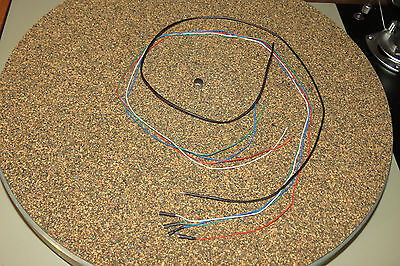 """Turntable Tonearm OFC color coded wires cables leads rewire kit set 21"""", 0.5m"""