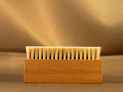 Wooden 3 row Anti Static Goat Goat's Hair Record Brush Deep Cleaner Clean Vinyl