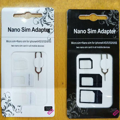 Lot 2/10/30 Set SIM Card Adapter Nano  Micro Standard with Ejector Pin for phone