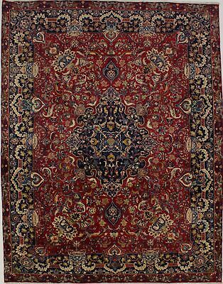 Masterpiece Pictorial 10X13 Hand Knotted Kashmar Wool Oriental Area Rug Carpet