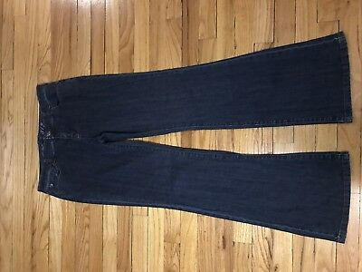 ed73b460869c79 The Limited Style 312 Dark Blue Wash Bootcut Denim Jeans Pants Stretch Size  10R