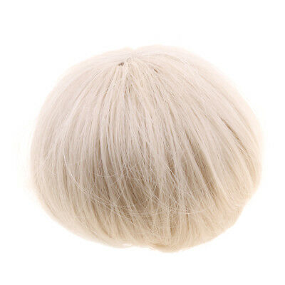 20-21cm 1/3 Short Straight Doll Wig Synthetic Hair for BJD Dolls Accs Beige