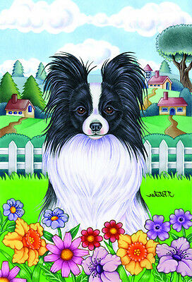 Large Indoor/Outdoor Spring Flag - Papillon 73078 TP