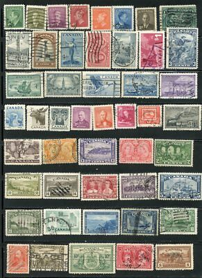 Canada Selection Of Old Used Stamps, Very Good Condition