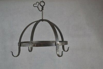 iron hooks meat game smoking hand forged hanging pots primitive style