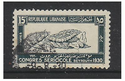 Lebanon - 1930, 15p Silk Congress stamp - Used - SG 161