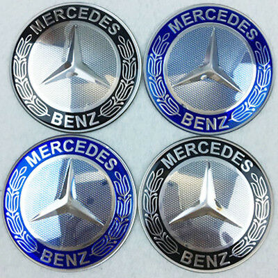 4Pcs 56mm Car Wheel Center Hub Cap Covers emblem sticker for Mercedes-Benz