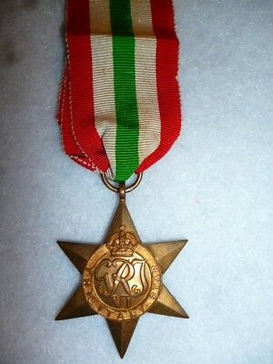 The Italy Star Medal WW2 - Genuine Period Medal