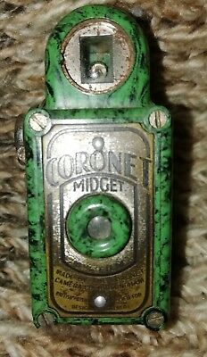 Great Condition RARE D-ring BRIGHT GREEN Coronet MIDGET No Chips or Cracks