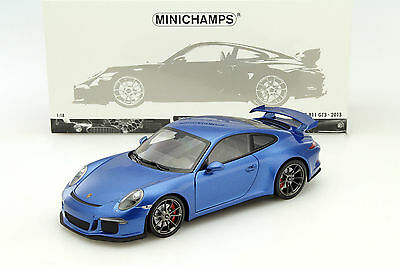 MINICHAMPS 2013 PORSCHE 911/ 991 GT3 BLUE METALLIC 1:18 Rare LE 300pcs*New Item