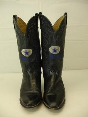 1d8b2cb37ed MENS 8.5 D M Acme Black Leather Embroidered Dallas Cowboys Boots Western  Cowboy