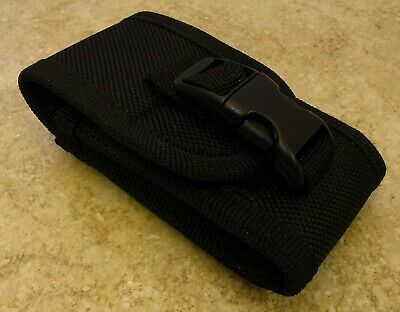 """Black Nylon Carry-All Knife Pouch for Horizontal or Vertical Carry 4"""" closed"""