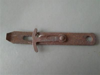 "Vintage Antique 7"" Hinged Hasp Latch Lock Gate Door Barn Chippie Rusty #3"
