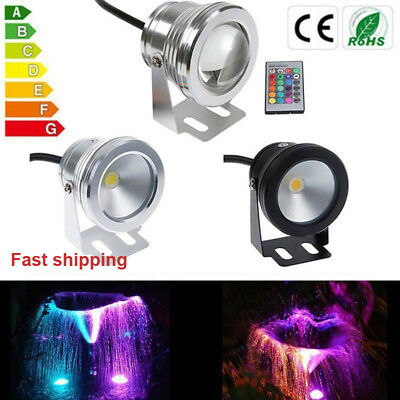 LED Underwater Submersible Spot light Aquarium Garden Pond Tank 10W 12V RGB IP68