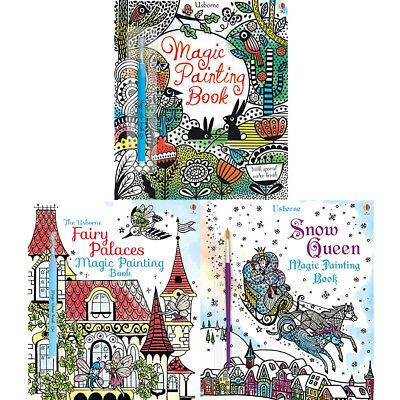 Painting Book Series 2 : 3 Books Collection Set Fairy Palaces Magic Snow Queen